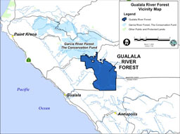 Gualala River Forest map