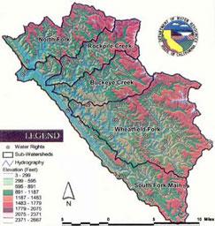 Sub-basins of the Gualala River Watershed