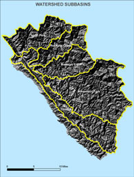 Topography of the Gualala River Watershed