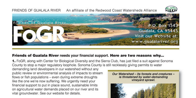Friends of Gualala River needs your financial support