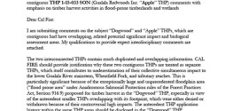 Peter Baye's letter on Dogwood and Apple THPs