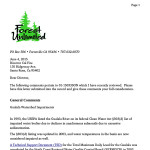 Forest Unlimited letter on Apple THP