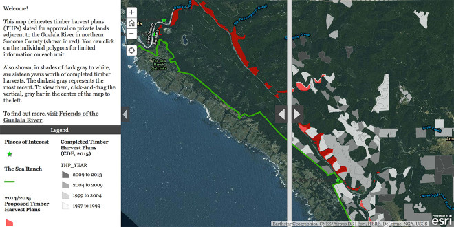 Interactive map of Gualala River logging plans 2015