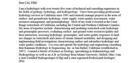 Greg Kamman's letter on Dogwood and Apple THPs
