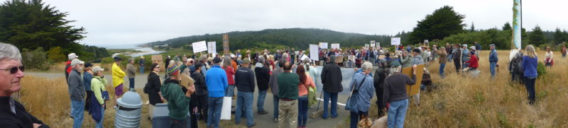 "Panorama of crowd at ""Rally for the River"" - July 16, 2016; photo credit: Doug Forsell"