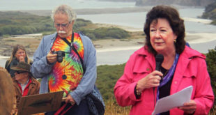 "Jeanne Jackson speaking at the ""Rally for the River""; July 16, 2016; photo credit: Anne Mary Schaefer (pawpawrazzipetphotography.com)"