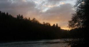 The Gualala River at dusk - by Craig Tooley