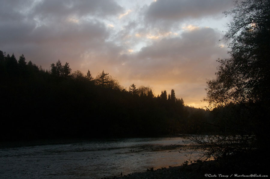 The Gualala River at dusk - by Craig Tooley