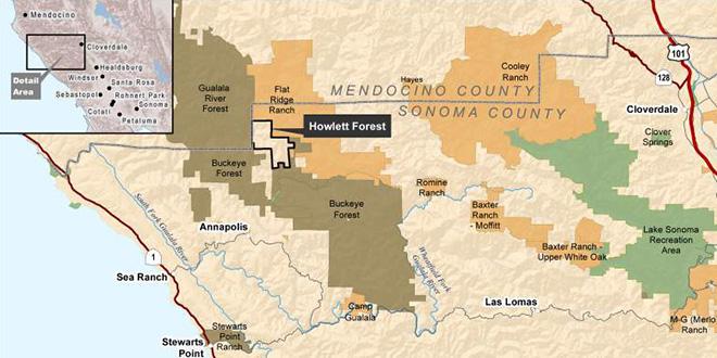 Howlett Forest map