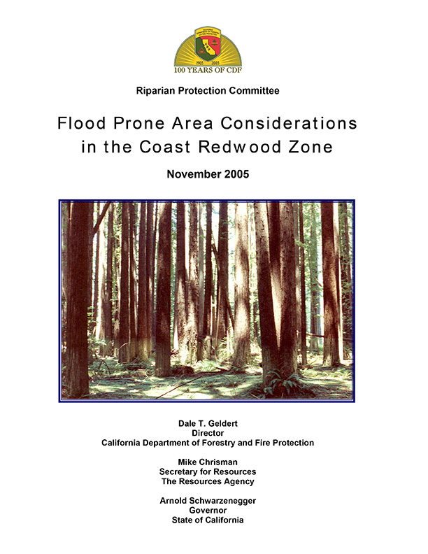 Flood Prone Area Considerations in the Coast Redwood Zone, by CDF (2005)