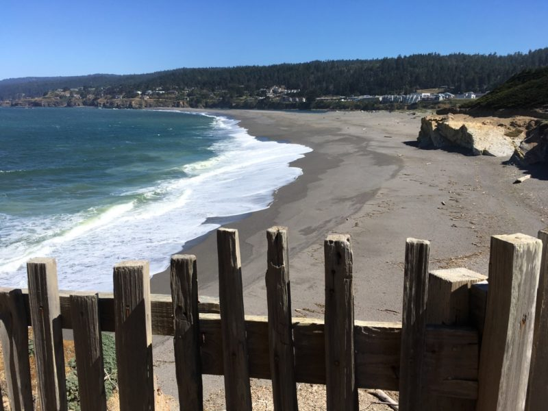 Beach at Gualala Point Regional Park, by Bob Rutemoeller