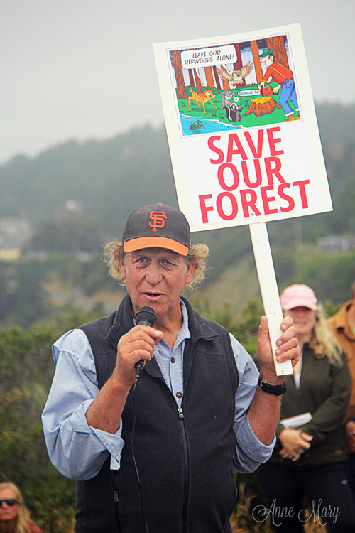"""Charlie Ivor speaking at """"Rally for the River"""" - July 16, 2016; photo credit: Anne Mary Schaefer"""