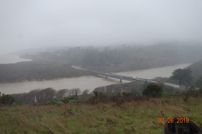 Gualala River bridge during 'atmospheric river' (Feb. 26, 2019), photo by FoGR supporter