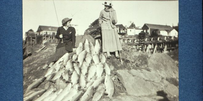 Ladies' Day Steelhead - December 1915; photo courtesy of Will Guyan