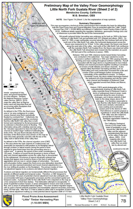 Map of the Valley Floor Geomorphology, Little North Fork Gualala River, by California Department of Fish and Wildlife (sheet 2 of 2)