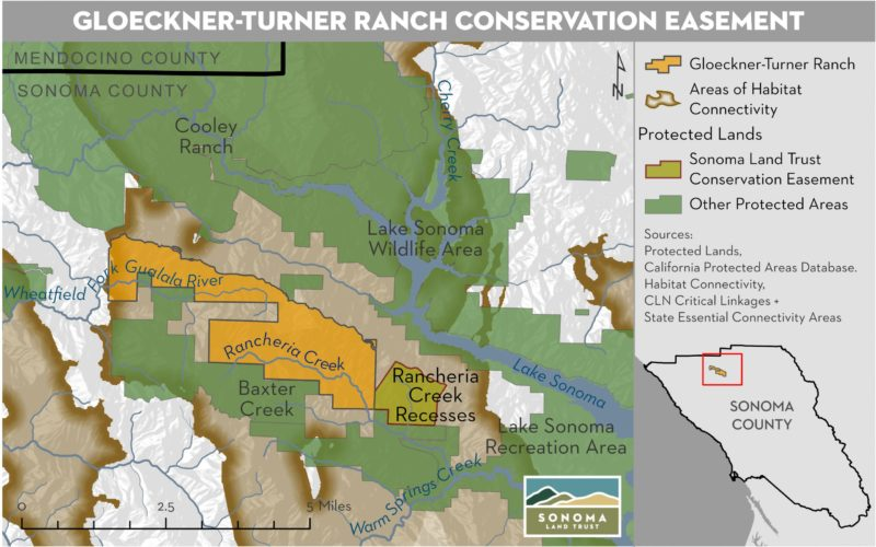 Gloeckner-Turner Ranch, map
