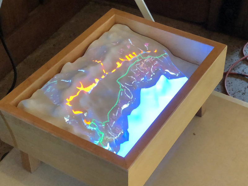 A Projected image onto the model