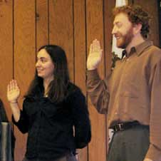 Kaitlin Sopoci-Belknap and Randy Turner sworn in as directors of the Humboldt Bay Municipal Water District