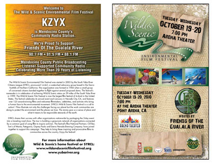 Wild & Scenic Environmental Film Festival program