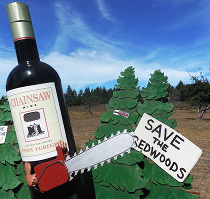Chainsaw Wine / Save the Redwoods, August, 2013