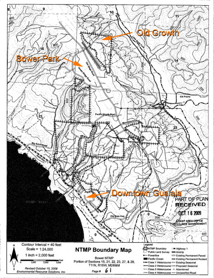 Bower NTMP logging plan, Gualala, CA