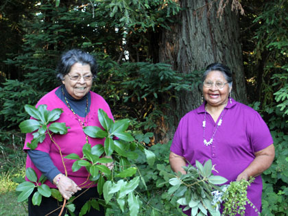 Pomo elders Violet Parrish Chappell and Vivian Parrish Wilder